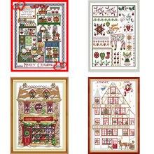 Рождественский подарок joy sunday штампованные наборы для вышивки