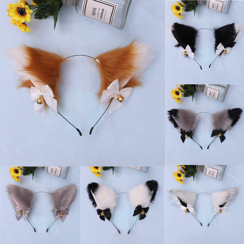 Halloween cat hairbow with attachable headband