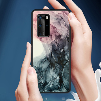 Painted Art Ink Shockproof Anti-Fall Case for Huawei P30 Pro P40 Lite Case for Huawei Nova 5T P20 Pro Luxury Soft Cover image