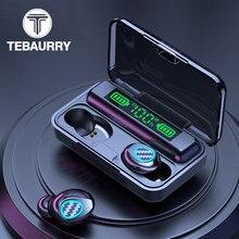 Tebaurry R6 наушники-вкладыши TWS с Беспроводной наушники стерео Bluetooth наушники 5,1 3D сенсорная гарнитура спортивные Водонепроницаемый наушники с ...