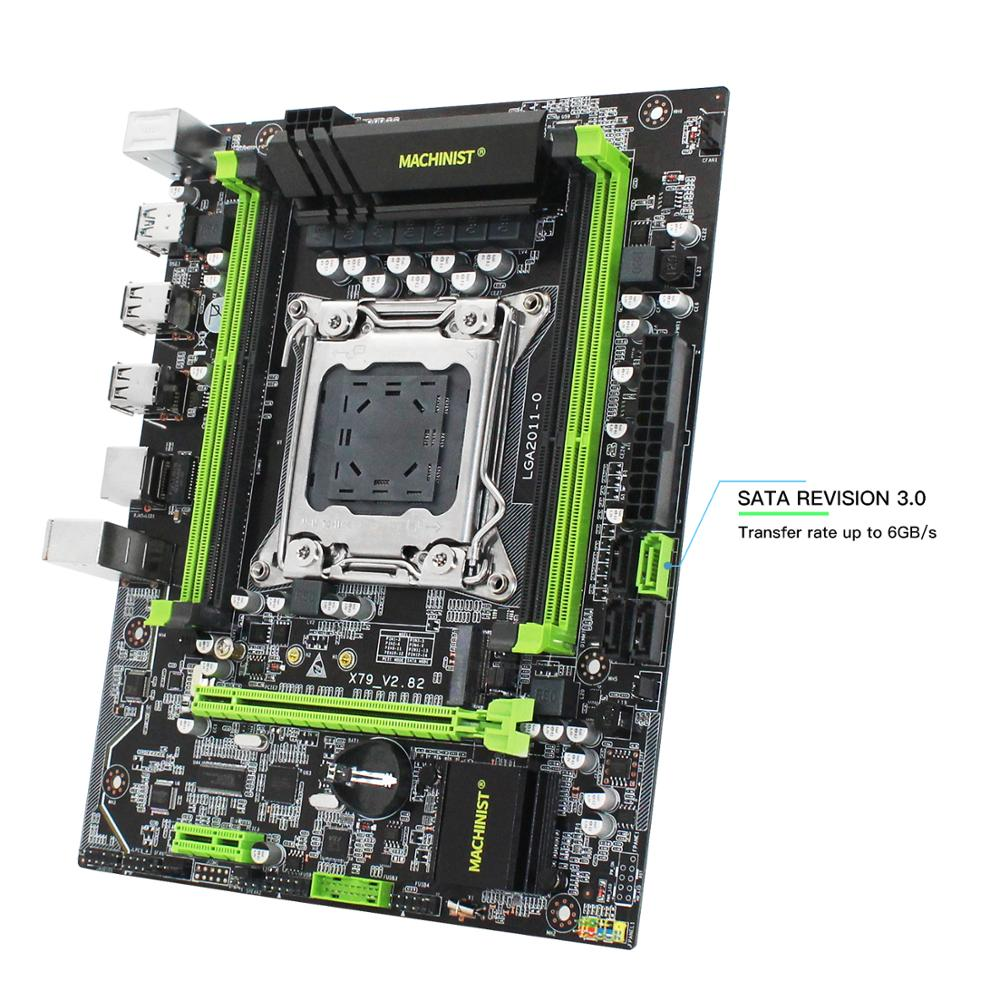MACHINIST X79 Turbo motherboard LGA2011 support DDR3 ECC memory Xeon E5 V1 V2 processor PCI-E NVME M.2 X79 V2.82 motherboards 3
