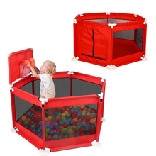 Baby Playpen Portable Childrens Pool Folding Child Fence Safety Barrier Plastic Ball Kids Bed