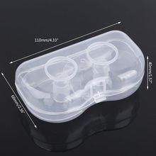 P15C 2Pcs Ultra-thin Soft Silicone Nipple Shield Protector Baby Breast Milk Feeding