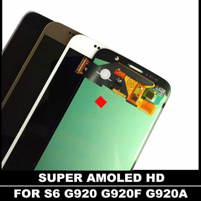 100% probado Super Amoled para SAMSUNG Galaxy S6 G920 G920F G920FD G920A G920K pantalla LCD + MONTAJE DE digitalizador de pantalla táctil