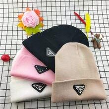 2020ラグジュアリーブランドの新秋と冬の帽子の男性の黒のヒップホップファッションブランドウール帽子手紙シンプルなニットカップルの帽子
