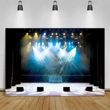 Laeacco sahne arka planında müzik gösterisi parlak spot hoparlör parti çocuk portre fotografik arka planlar Photocall fotoğraf stüdyosu