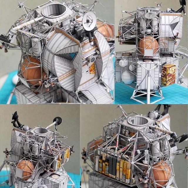 Space Fine Apollo 13 Lunar Module DIY 3D Paper Card Model Building Sets Construction Handmade Toys Educational Toys Model 2