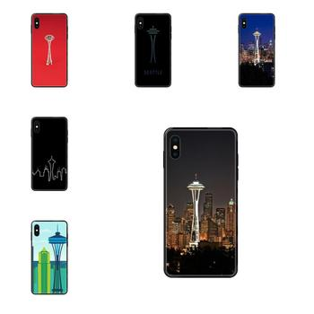 Soft TPU Screen Protector Seattle Space Needle For Huawei Honor 20 20I 20S 10 10I 6A 7A 7X 8C 8X 9 9A 9I 9X Lite Pro image