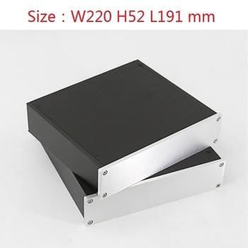 2205 DAC Amplifier Case Aluminum Chassis Power Supply DIY Case Size(mm): W220 H52 L191 цена 2017