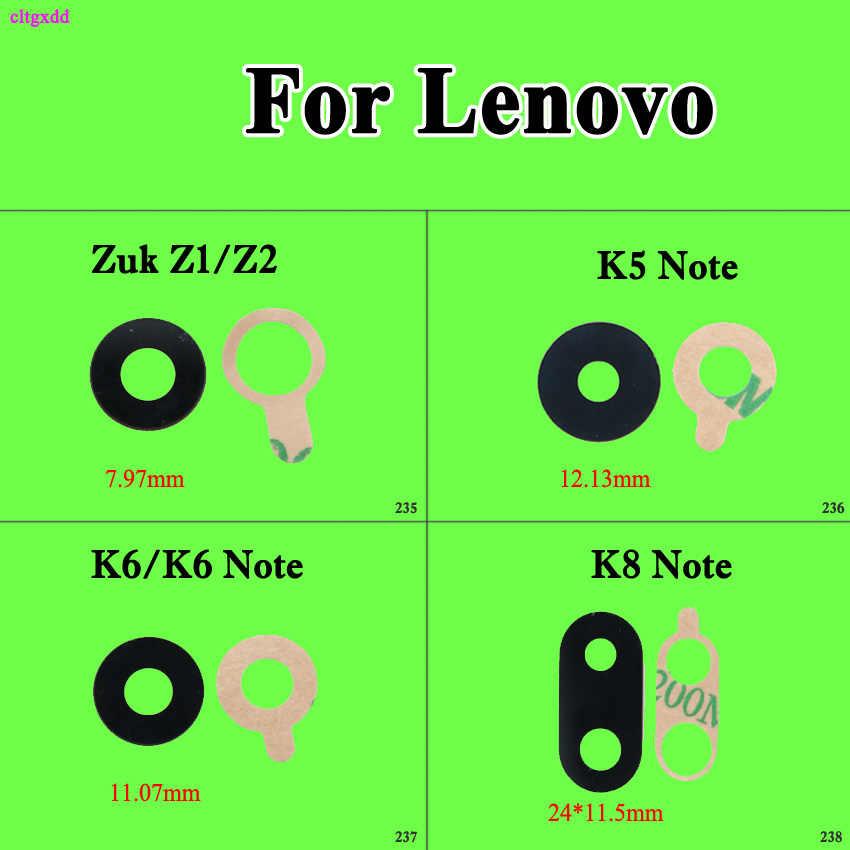 2 Pcs Baru Punggung Belakang Kamera Lensa Kaca dengan Lem Perekat Pengganti untuk Lenovo VIBE Zuk Z1 Z1221 Z2 K8 catatan K6 Catatan K6 K5 Catatan