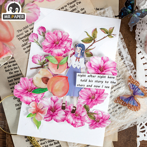 Image 2 - Mr.Paper Butterfly Peony Colorful Insect Cut off Rule Line Bullet Journaling Washi Tape Scrapbooking DIY Decoration Masking Tape