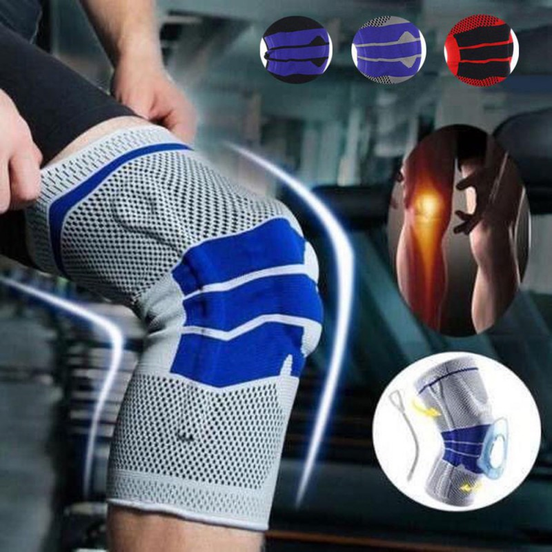 New Style Patchwork Knee Brace Support Sports Nylon Sleeve Pad Compression Sport Pads Running Basket Elbow Knee Pads