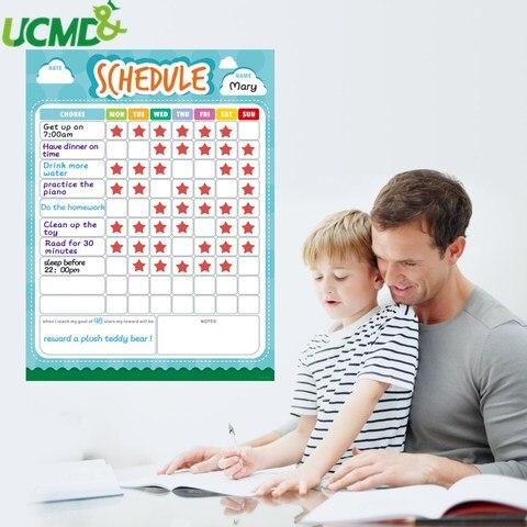 calendario semanal magnetico calendario horario carta de tarefas para fazer lista nota papel quadro branco