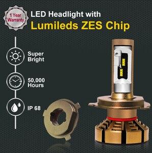 Image 2 - Roadsun H7 H4 led車のヘッドライトの球根とzesチップH1 led H11 H8 H9 HB3 9005 HB4 9006 12 12v 6000 18k 12000LMランプオート電球ライト