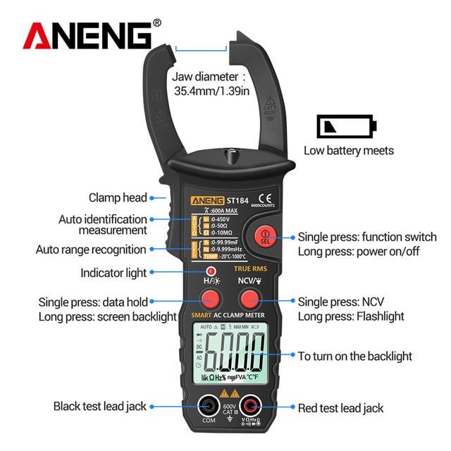Купить aneng st184 мультиметр мультиметры цифровые токовые клещи 6000 картинки цена