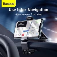 Baseus Car Phone Holder 360 Degree GPS Navigation Dashboard Phone Holder Stand in Car for Universal Phone Clip Mount Bracket