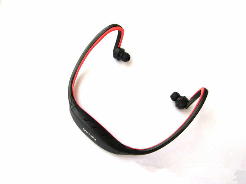 1 Uds auriculares Bluetooth inalámbrico de deporte auriculares Bluetooth compatible con tarjeta TF/SD micrófono para iPhone Huawei teléfono Xiaomi