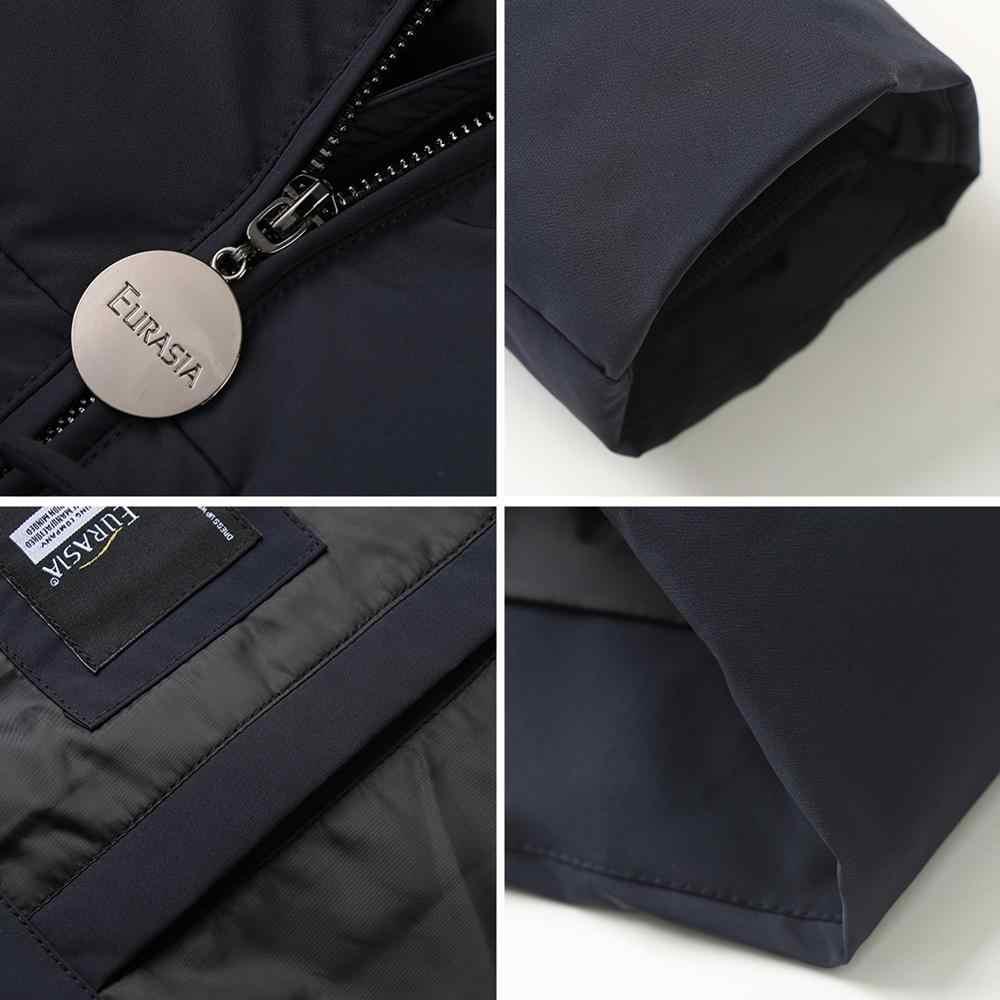 EURASIA 2019 nouveau Style femmes hiver manteau épais Parkas vraie fourrure vêtements d'extérieur Zipper longue taille réglable veste YD1886