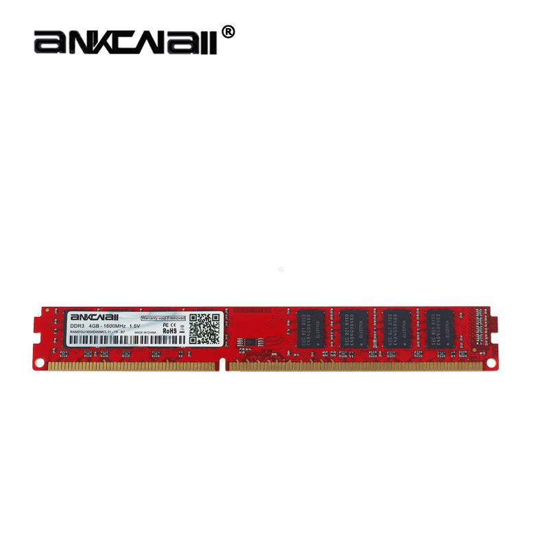 ANKOWALL DDR3 Desktop RAM with 2GB/4GB Capacity and 1866MHz/1600Mhz Memory Speed 14