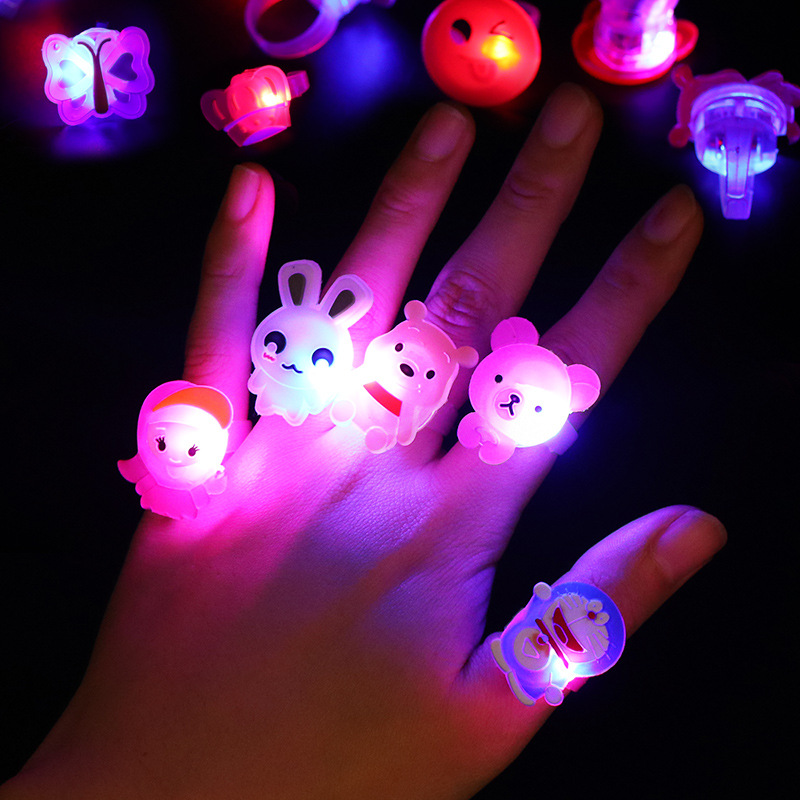 Night Fluorescent Ring Light Glow In The Dark Kids Toy Flash Glowing Toys LED Stars Shine In The Dark Toys Party Child Gift E
