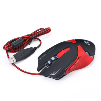 Professional Gaming Mouse Wired Computer Mouse 3200 DPI 6 Buttons Four Speed Fast Mouse Ergonomic Optical Mouse for Laptop Pc 2