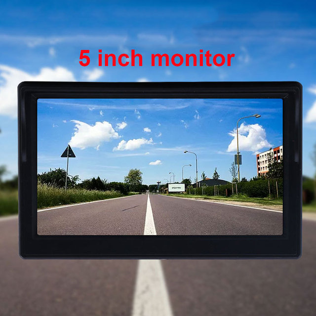 "5 Inch or 4.3 inch Car Monitor TFT LCD 5"" HD Digital 16:9 800*480 Screen 2 Way Video Input For Reverse Rear View Camera DVD VCD 5"
