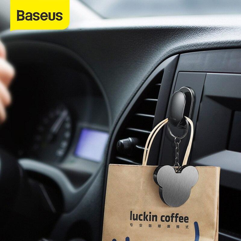 Baseus 4 Teile/los Auto Haken Organizer Lagerung Aufhänger für USB Kabel Kopfhörer Schlüssel Lagerung Auto Zubehör Auto Adhesive Haken Aufhänger