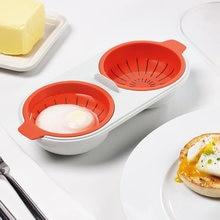 Novo criativo ovo poacher grau alimentício panelas duplo copo ovo caldeira vapor conjunto de fornos microondas cozinha cozinhar ferramentas
