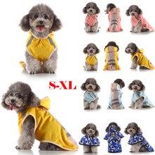 Fashion Dog Raincoat coat Pet clothes Rainwear Waterproof For Small Teddy Puppy S/M/L/XL D40