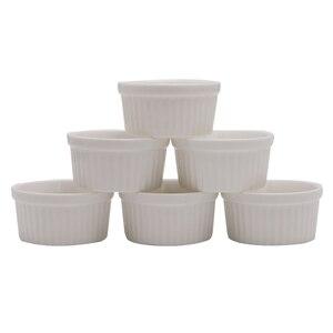 2020 Новые 6 шт белые фарфоровые суфле рамекинс десерты заварные чашки Инструменты для выпечки 4 унции