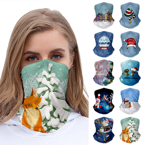 Cute Fashion Christmas Series Pattern Magic Scarf Unisex Bandana Neck Gaiter Headwear For Women Men Christmas Face Scarf