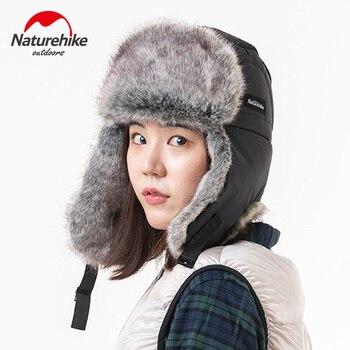 Naturehike-gorro de esquí grueso para exterior, de 3 capas, para invierno, para hombre y mujer, a prueba de frío y caliente, para deportes de esquí al aire libre, orejeras a prueba de viento