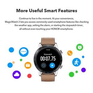 """Image 3 - هواوي الشرف ماجيك 2 ساعة ذكية 5ATM مقاوم للماء ساعة ذكية معدل ضربات القلب الأكسجين المدخول مراقب 1.39 """"AMOLED الرياضة لتحديد المواقع ساعة ذكية"""