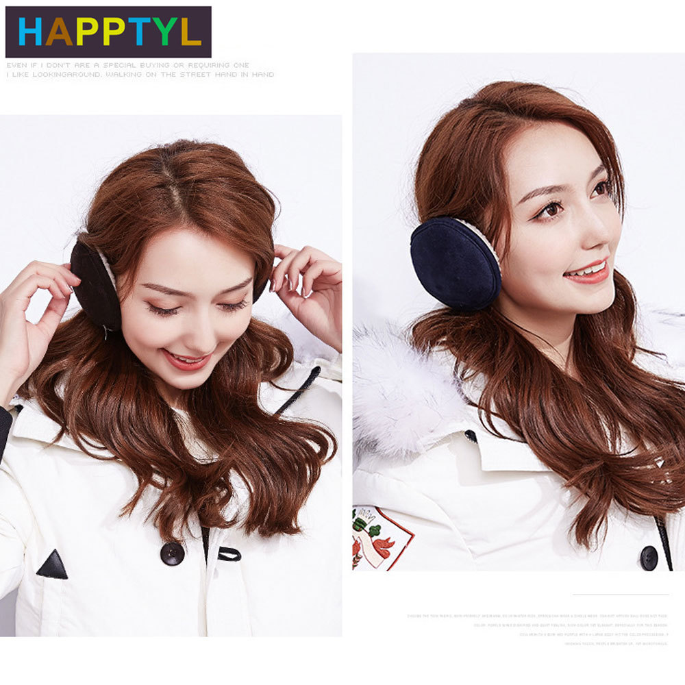 HAPPTYL 1Pcs Ear Warmer Unisex Classic Velvet Earmuffs Winter Accessory Outdoor Earmuffs Neck Protection