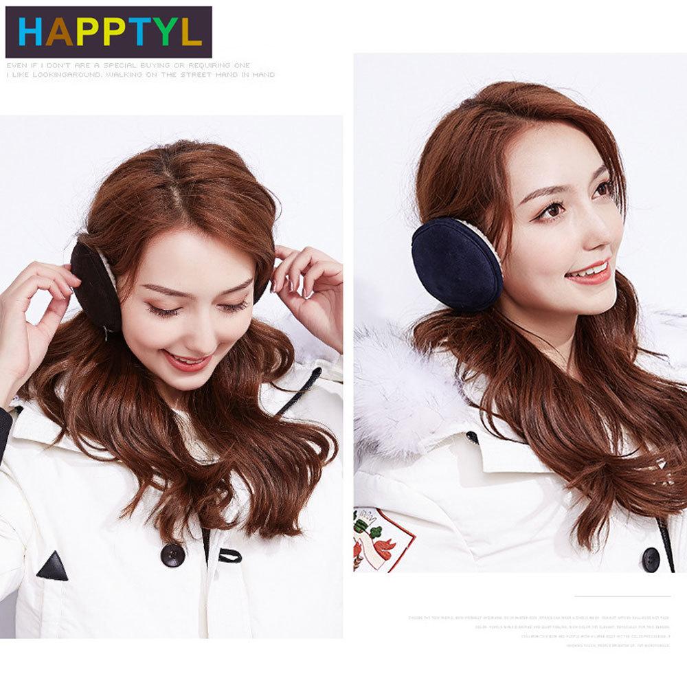 HAPPTYL 1Pcs Ear Warmer Unisex Classic Velvet Earmuffs Winter Accessory Outdoor Earmuffs Neck Protection