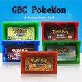 Карта картриджа для видеоигр Pokemom 32 бит, консоль, карта для Nintendo GBA PikaCU с изумрудами, листьями, зеленым рубином и сапфиром