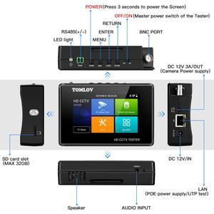 Image 4 - CCTV Tester צג TVI CVI AHD CVBS,4K H.265 MPEG IP מצלמה מבחן מהיר ONVIF 4 מגע מסך נייד יד PoE מצלמה tester