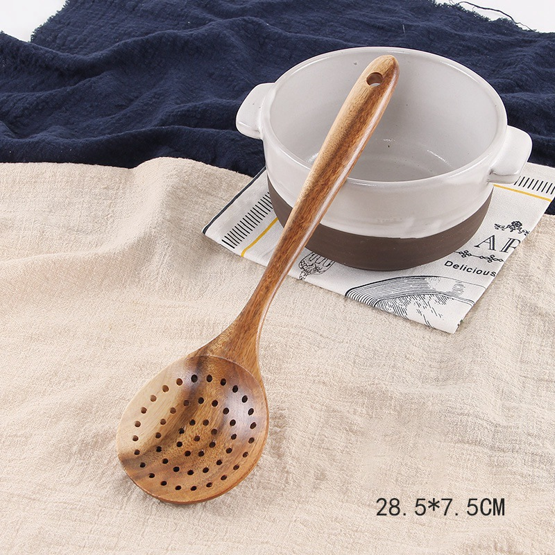 1 Sturdy Wood Spoon For Cooking Banquets Stir or Serve Natural Bamboo Kitchen Spoon or Buffets Mix 12 Inch Serving Spoon Utensil For Non-Stick Cookware For Catering Homes Restaurantware