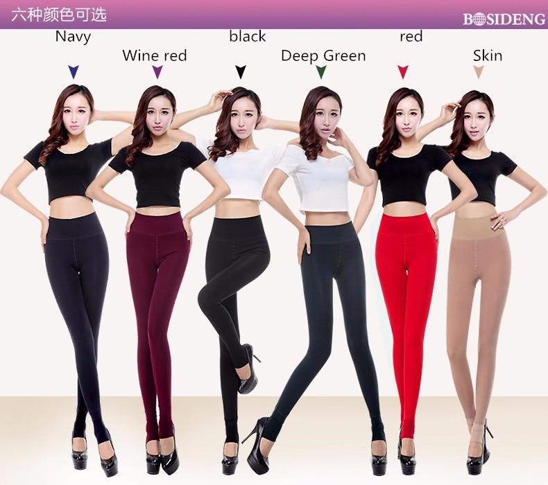 H9cd18da8947f4665ae9efe87a7ce1861z CHRLEISURE Warm Women's Plus Velvet Winter Leggings Ankle-Length Keep Warm Solid Pants High Waist Large Size Women Leggings