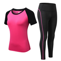 2020 Sports Woman Sportswear Yoga Set Tracksuit For Women Leggings+Gym Top Fitness Gym Suits Sport clothing