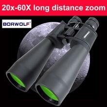 Borwolf zoom Бинокль высокой мощности четкости 20 60x70 бинокль