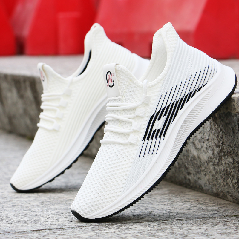 2020 New High-heeled Shoes Summer Sneakers Men Korean Trend Men's Shoes Sports Casual Breathable Running Shoes