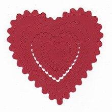Love Border Heart Element Cutting Dies for Craft Scrapbooking Card Making Album Embossing Die Cut Stencil Letter Metal