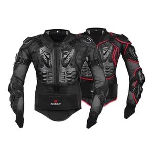 Image 2 - HEROBIKER Motorcycle Jacket Men Full Body Motorcycle Armor Motocross Racing Moto Jacket Riding Motorbike Protection Size S 5XL #