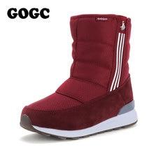 GOGC שלג מגפי חורף מגפיים לבן אתחול נשים עם פרווה בפלאש חורף נעלי נשים חם עמיד למים מגפי נשים G9844