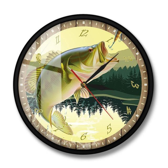 Trout Fisherman Wall Clock 8