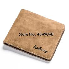 2020 Men Retro Frosted PU Wallet Two Folding Male Purse Credit Card Holder Solid Color Short Wallet purse and wallet   pu purse