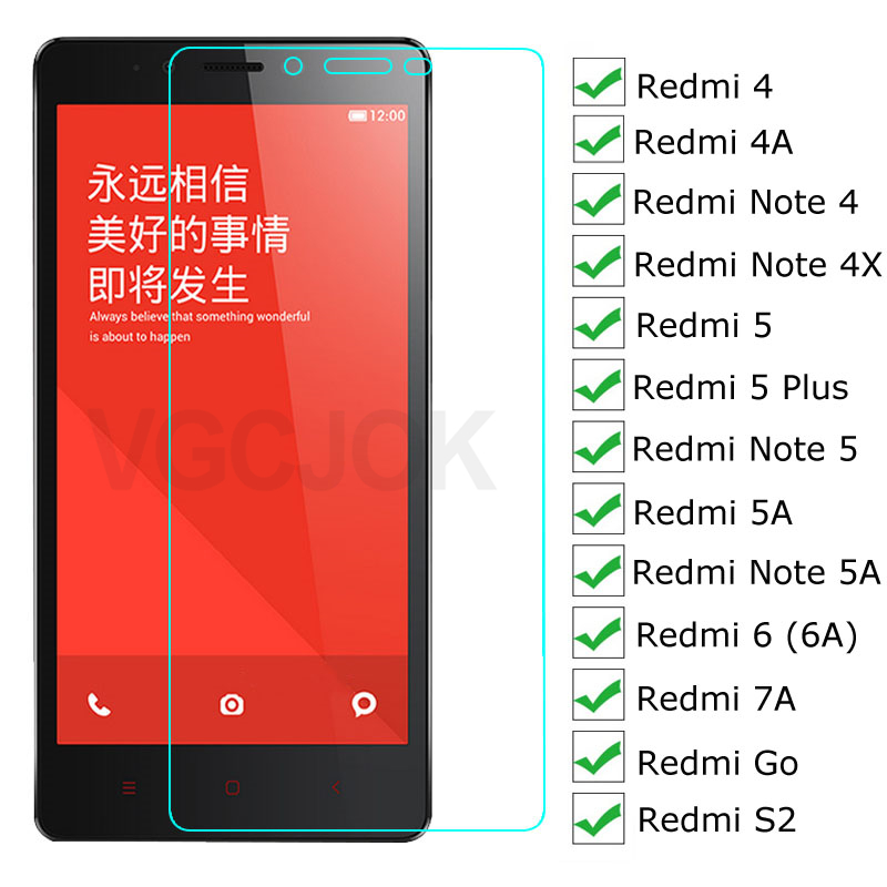 3D Protective Glass For Xiaomi Redmi Note 4 4X 5 5A Pro Screen Protector On Redmi 5 Plus Go S2 4A 5A 6 6A 7A Tempered Glass Film