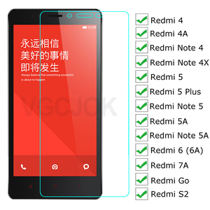 3D Protective Glass For Xiaomi Redmi Note 4 4X 5 5A Pro Screen Protector On Redmi 5 Plus Go S2 4A 5A 6 6A 7A Tempered Glass Film(China)