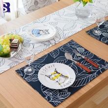SunnyRain, 4 шт., для сервировки стола, прямоугольные столовые приборы, украшения для дома, утепление ковриками, коврик